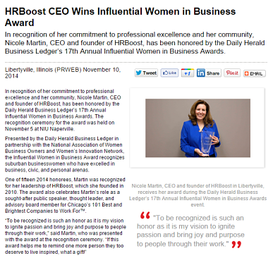 hrboost-ceo-wins-influential-women-in-business-award